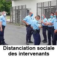 Distanciation sociale des intervenants