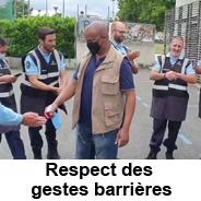 Respect des gestes barrières